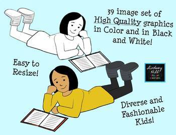 Flexible Seating for Reading: Clip Art Set