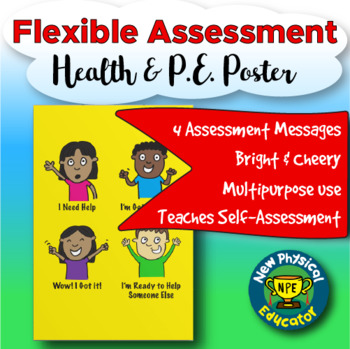 """Flexible """"Touchable"""" Assessment  Health and Physical Education Posters"""