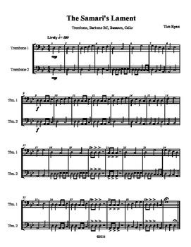 Beginning Band Flexible Instrumentation Duet: The Samari's Lament