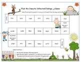 Flick the Insect's Inflected Endings _s Literacy Station Game RF.1.3, RF.2.3