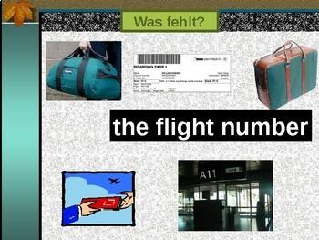 Fliegen (Air Travel in German) PowerPoint