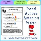 Flier for Read Across America Week