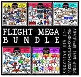 Flight Clip Art Mega Bundle {Educlips Clipart}