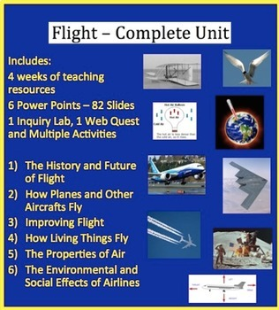 Flight Complete Unit - PowerPoint Lessons, Worksheets & Assessments