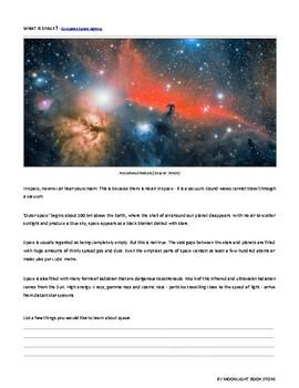 Space Grade 6 Science Unit