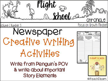 Flight School - Growth Mindset - Creative Writing Activities