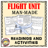 Flight Unit: Man-made flight; science readings, activities and worksheets.