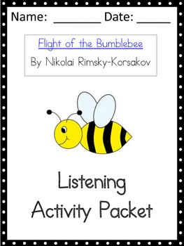 Flight of the Bumblee Listening Activity Packet