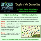 Flight of the Butterflies Folder Game Vocabulary Closed +