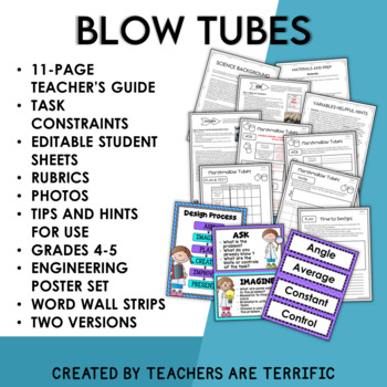 STEM Blow Tubes Challenge featuring Newton's Laws of Motion