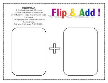 Flip & Add Math Game