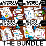 Flip Book BUNDLE {Alphabet, Number Recognition, Blends, & Rhyming Words}