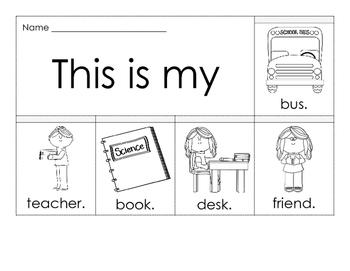 Flip Book - Back to School FREEBIE