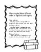 Flip-Book Book Report