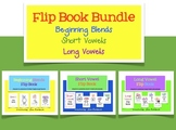 Flip Book Bundle for beginning blends short vowels and long vowels