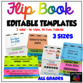 Editable Flip Book Template Bundle Foldable - NO MESS  3 Sizes