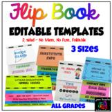 Editable Flip Book Template Bundle Foldable - NO MESS  3 Sizes