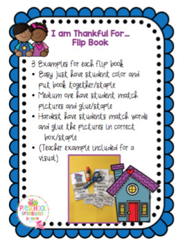 Flip Book- I Am Thankful For...