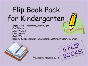 Flip Book Pack for Kindergarten