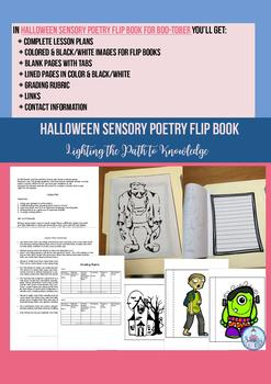 Halloween Sensory Poetry Flip Book for Boo-tober (Grades 5-8)
