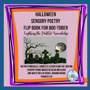Halloween Sensory Poetry Flip Book for Boo-tober