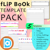 Free Flip Book Template Bundle | 5 Templates | Editable | Writing Flip Book