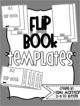 Flip Book Templates {FULLY EDITABLE} by O-H So Blessed   TpT