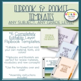 Flip Book Templates, Booklet Templates