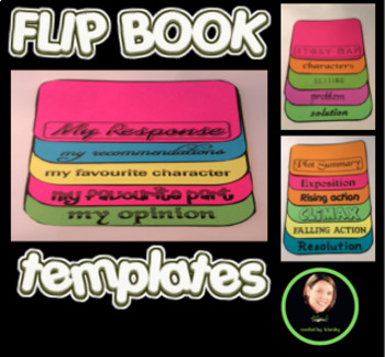 Flip Book Templates {Responses, Story Maps, Story Plots, News Articles,...}