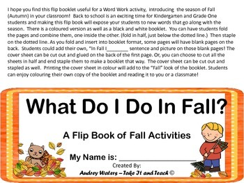 Flip Book for Autumn (Fall)