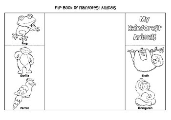 Interactive Flip Book of Rainforest Animals