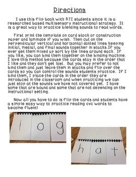 Flip Book with Beginning/Ending Consonant Blends/ Digraphs