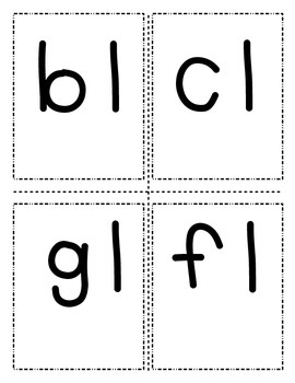 Flip Book with Beginning/Ending Consonant Blends/ Digraphs Multi-sensory RTI