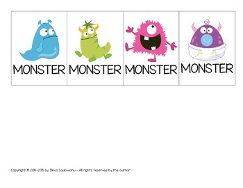 Flip Book with Colourful Monsters