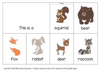 Flip Books with Forest Animals - lowercase letters