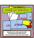 Flip Booklets: Rimas (Spanish Rhyming Word Families)