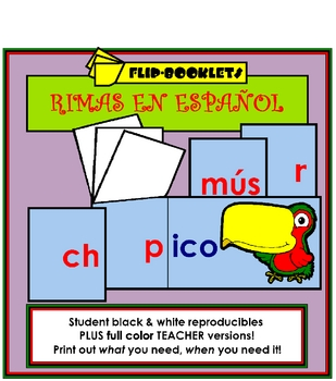 Flip Booklets: Rimas (Spanish Rhyming Word Families)