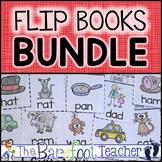 Flip Books - Alphabet, Blends, Digraphs, CVC, Word Families, Spanish Alphabet