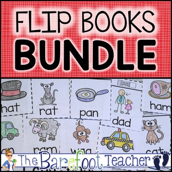 Flip Books - Alphabet, Blends, Digraphs, CVC, Word Familie