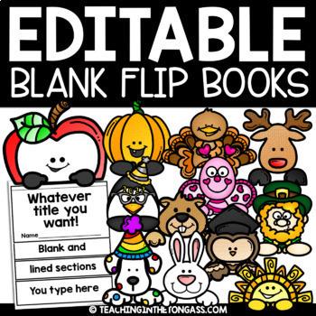 EDITABLE Flip Book Template (Easter Craft Flip Book & MORE)
