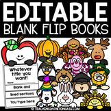 Thanksgiving Activities | Thanksgiving Flip Book Template Editable