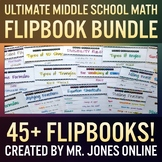 Math Flip Books: Middle School Math FLIPBOOK MEGA BUNDLE