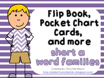 Flip Books, Pocket Chart Cards, and More {Short a Word Families}