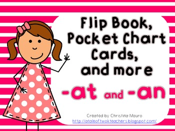 Flip Books, Pocket Chart Cards, and More {at/an} FREEBIE