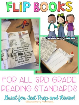Flip Books and Types of Questions for all 3rd Grade Reading Standards