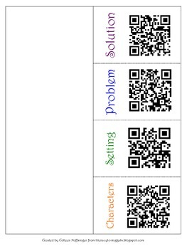 Flip Books for Fiction, including a QR Code Bonus- Comes in Color and B/W