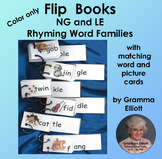 Flip Books for LE and NG Rhyming Word Families