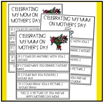 Flip Books for Mothers Day and Fathers Day (Mum's Day Also)