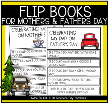 Flip Book for Mothers Day and Fathers Day (Mum's Day Also)
