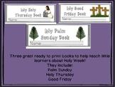 Flip Books for Palm Sunday, Holy Thursday, and Good Friday